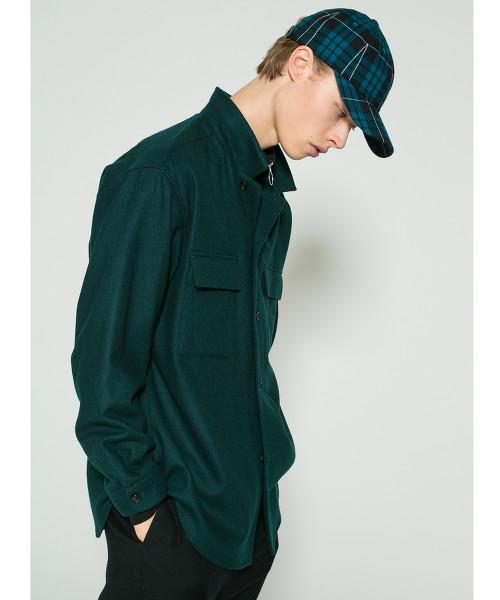<monkey time> FLANO SHORT COLLAR SHIRT/襯衫