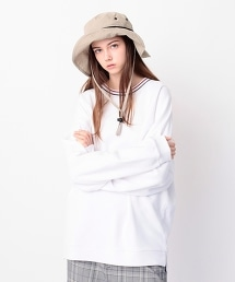 <monkey time> URAKE DOLEMAN LINE MOCK/蝙蝠袖微高領衛衣 OUTLET商品