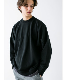 <monkey time> URAKE DOLEMAN WIDE RIB MOCK SWEAT/衛衣