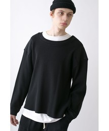 <CALUX × monkey time> HEAVY WAFFLE PATCHED CREW NECK/圓領 華夫格上衣 OUTLET商品