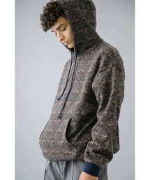 <monkey time> ETHNIC PRINT F/T HOODY/連帽衫 日本製