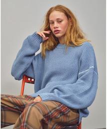 <monkey time> WAFFLE OVERSIZED KNIT blue/針織毛衣