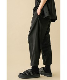 <monkey time> TR TWILL BELTED WIDE ANKLE/寬版 九分褲