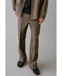 <monkey time> GUN CLUB CHECK WIDE BOOT CUT/靴型褲 西裝褲