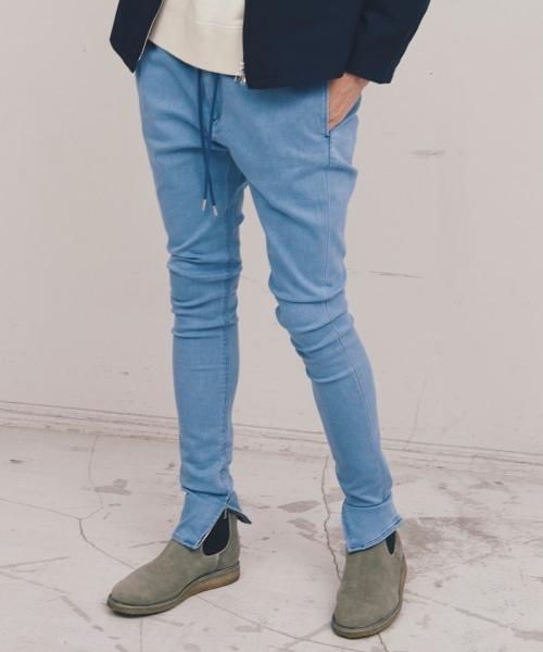<monkey time> ST DENIM ZIP JGGS/丹寧牛仔褲