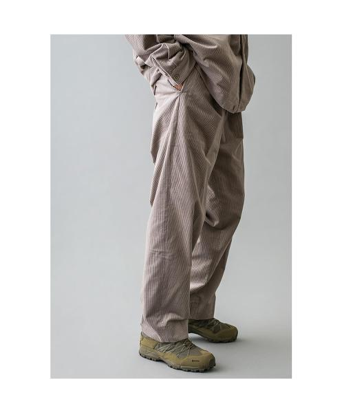 <monkey time> 7WALE SOFT CORD WIDE 1P PANTS/燈芯絨寬褲 OUTLET商品