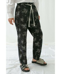 <monkey time> KATURAGI FLOWER PRINT EASY/輕便褲