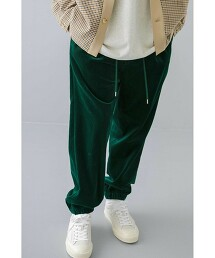 <monkey time> 8W SOFT CORDUROY 1P WIDE EASY JOGGER PANTS/寬褲