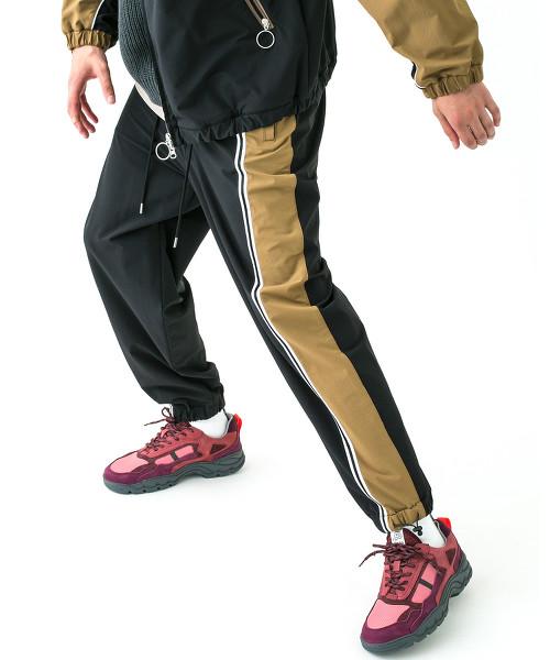 <monkey time> NYLON D/CLTH TRACK PANTS/運動褲