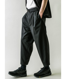 <monkey time> TR TWILL BELTED WIDE ANKLE/九分褲