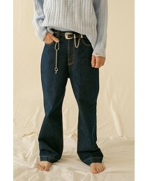 <monkey time> DENIM WIDE BOOTCUT/靴型褲