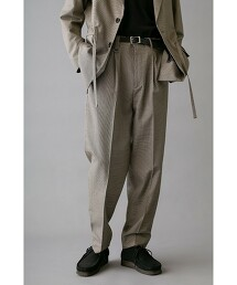 <monkey time> TR GUN CLUB CHECK 1P WIDE PANTS/寬褲