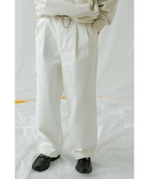 <monkey time> WHITE KATYRAGI 2P WIDE PANTS/寬褲