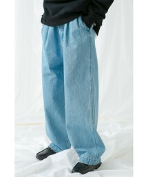 <monkey time> DENIM 2P WIDE PANTS/丹寧寬褲