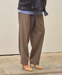 <monkey time> FLANO CHECK WIDE 1P PANTS/寬褲 ◆
