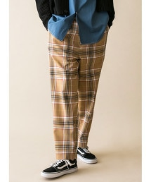 <monkey time> TW CHECK WIDE 1P PANTS/寬褲 OUTLET商品