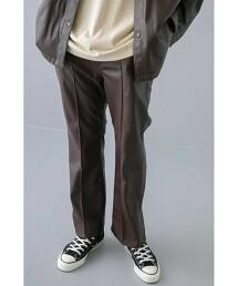 <monkey time> FAUX LTHR BACK SLIT TROUSER/長褲