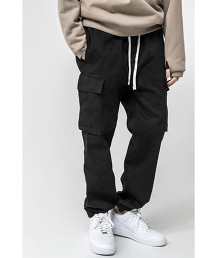 <monkey time> G/D ST SATIN DROPPED CARGO JOGGER/工裝 束口褲