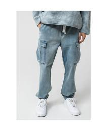 <monkey time> ST DENIM DROPPED CARGO JOGGER/工作風縮口褲