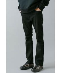 <monkey time> Re:USECLED DENIM CUTOFF SKINNY BOOTCUT/靴型窄管褲