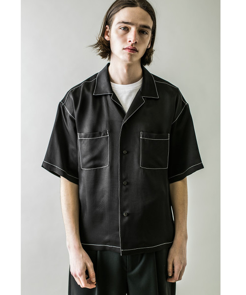 <monkey time> RYN TWILL OPEN SHIRT stich/襯衫