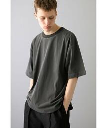 <monkey time> PIGMENT NEP TRIM NECK T/T恤