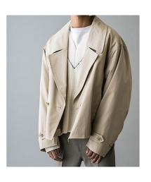 <monkey time> COTTON GABA CROPPED COAT/短大衣