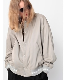 <monkey time> SATIN CHECKER RIB JACKET/布勞森外套 OUTLET商品