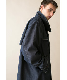 <monkey time> TC TWILL WTHR OVER COAT/寬版大衣 OUTLET商品