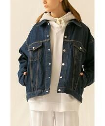 <monkey time> DENIM TRUCKER JACKET/丹寧夾克