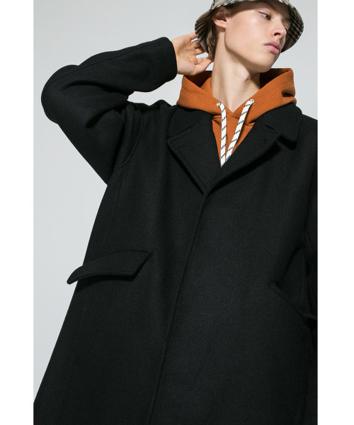 <monkey time> KRZ MELTON OVER COAT/寬版大衣