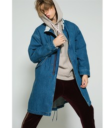 <monkey time>  SHRP LINER DENIM FISHTALE COAT
