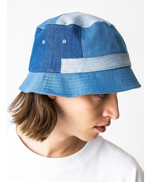 <monkey time> PATCH WORK DENIM BUCKET HAT/水桶帽