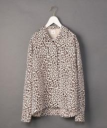 <6(ROKU)>LEOPARD PRINT SHIRT/襯衫