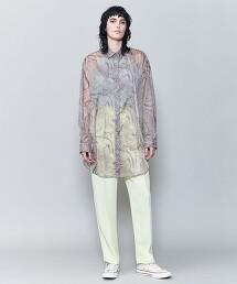 <6(ROKU)>SUKE MARBLE PRINT SHIRT/襯衫