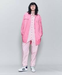 <6(ROKU)>NYLON SILK BIG SHIRT/襯衫