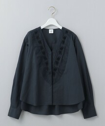<6(ROKU)>V NECK TUCK SHIRT/襯衫 日本製