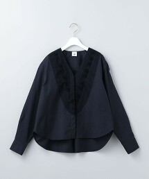 <6(ROKU)>V NECK TUCK SHIRT 2/襯衫 日本製