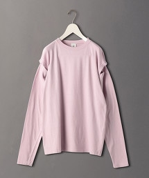 <6(ROKU)>DOT BUTTON SLEEVE PULLOVER/T恤
