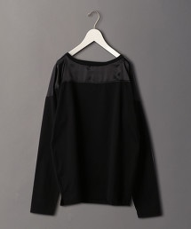 <6(ROKU)>SATIN COTTON T-SHIRT/T恤