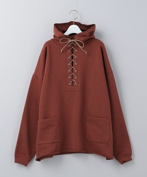<6(ROKU)>LACE UP HOODIE/T恤 OUTLET商品
