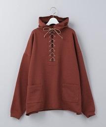 <6(ROKU)>LACE UP HOODIE/T恤