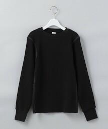 <6(ROKU)>THERMAL COLOR TIGHT PULLOVER/保暖T恤 日本製