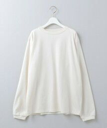 <6(ROKU)>COTTON BASIC LONG SLEEVE T-SHIRT/T恤 日本製