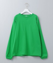 <6(ROKU)>COTTON BASIC LONG SLEEVE T-SHIRT/T恤 日本製