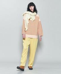 <6(ROKU)>RASCHEL BORDER PULLOVER 2/T恤 日本製