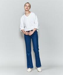 <6(ROKU)>COTTON PAD V NECK T-SHIRT/T恤日本製
