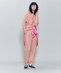 <6(ROKU)>COLOR SWEAT CREW NECK PULLOVER SHERBET/衛衣 日本製