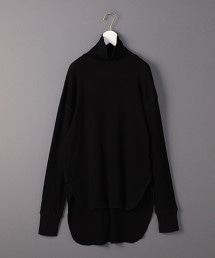 <6(ROKU)>SUKE TERECO TURTLE NECK PULLOVER/套頭上衣