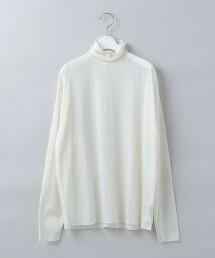 <6(ROKU)>SHEER TURTLE NECK PULLOVER/T恤 日本製